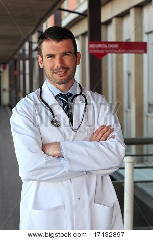doctor in hall
