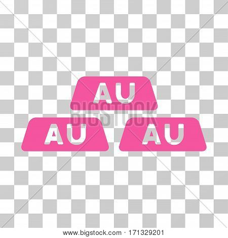 Gold Bullions icon. Vector illustration style is flat iconic symbol pink color transparent background. Designed for web and software interfaces.
