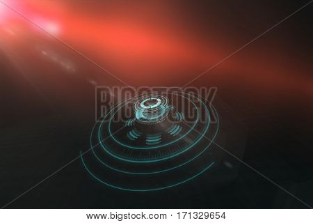 Digital image of volume knob over background 3d