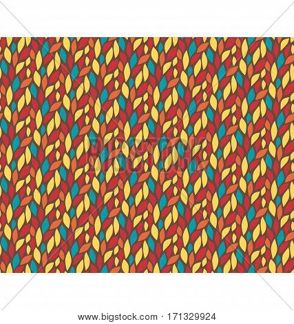 Seamless leaf multicolor bright fun abstract pattern