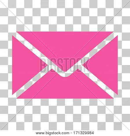 Mail Envelope icon. Vector illustration style is flat iconic symbol pink color transparent background. Designed for web and software interfaces.