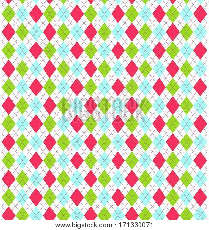 Seamless Multicolor Bright Fun Abstract Rhombus Pattern