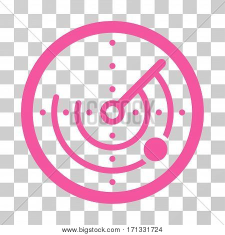 Radar icon. Vector illustration style is flat iconic symbol pink color transparent background. Designed for web and software interfaces.