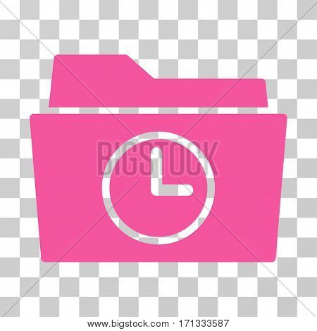 Temporary Folder icon. Vector illustration style is flat iconic symbol pink color transparent background. Designed for web and software interfaces.