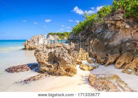 Coastal Stones On Macao Beach