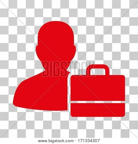Accounter icon. Vector illustration style is flat iconic symbol red color transparent background. Designed for web and software interfaces.