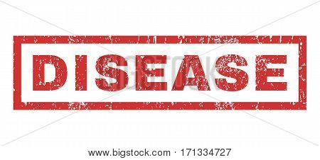 Disease text rubber seal stamp watermark. Caption inside rectangular shape with grunge design and scratched texture. Horizontal vector red ink sign on a white background.