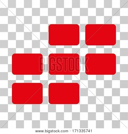Calendar Grid icon. Vector illustration style is flat iconic symbol red color transparent background. Designed for web and software interfaces.