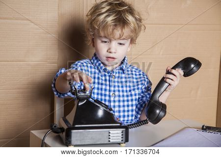 Small Businessman Dials The Customer