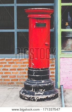 Postbox red vintage Communication in the past