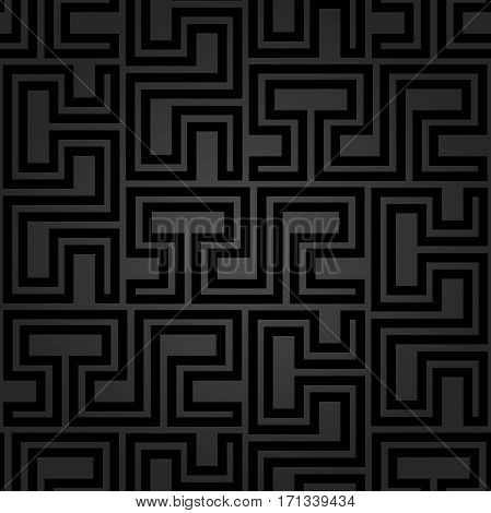 Seamless geometric pattern for your designs and backgrpounds. Modern dark ornament with repeating elements