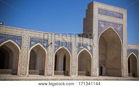 The Large Courtyard Of Kalyan Mosque In Bukhara, Uzbekistan