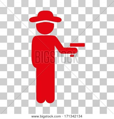 Gentleman Robber icon. Vector illustration style is flat iconic symbol red color transparent background. Designed for web and software interfaces.