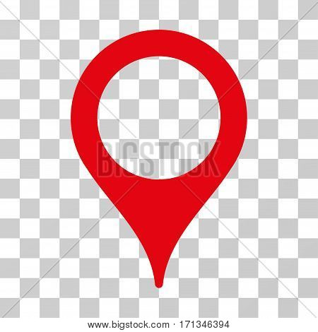 Map Pointer icon. Vector illustration style is flat iconic symbol red color transparent background. Designed for web and software interfaces.
