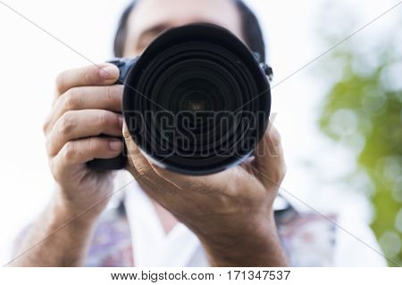 Man While Photographer