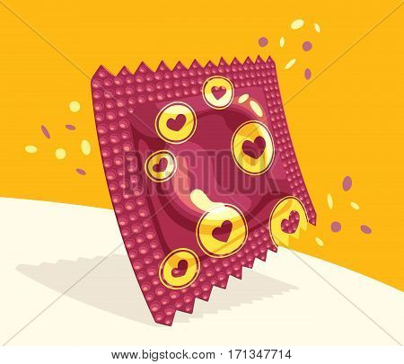 Festive condom package - Similar to the brazilian free distribution ones