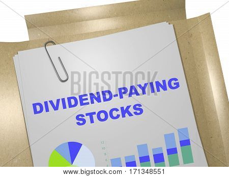 Dividend-paying Stocks Concept