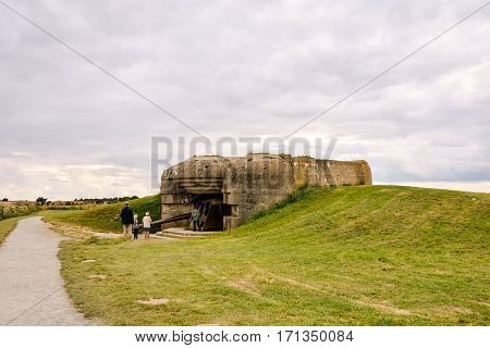 Remains Of The Mulberry Harbour In Normandy France, Europe