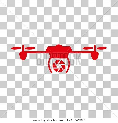 Shutter Spy Airdrone icon. Vector illustration style is flat iconic symbol red color transparent background. Designed for web and software interfaces.