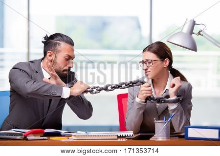 Man and woman in business concept