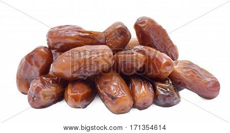 Dried brown dates from egypt in small portion