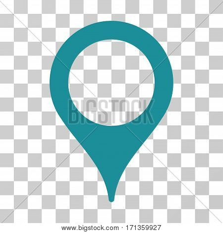 Map Pointer icon. Vector illustration style is flat iconic symbol soft blue color transparent background. Designed for web and software interfaces.