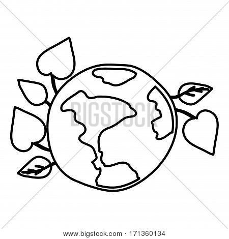 ecology earth icon stock design, vector illustration