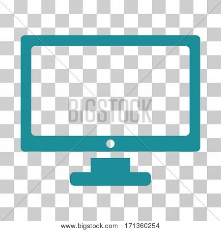 Monitor icon. Vector illustration style is flat iconic symbol soft blue color transparent background. Designed for web and software interfaces.