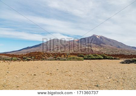 Caldera and volcano El Teide Tenerife Canary islands Spain