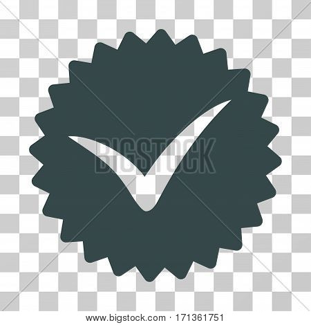 Quality icon. Vector illustration style is flat iconic symbol soft blue color transparent background. Designed for web and software interfaces.