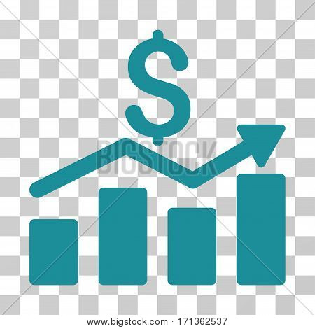 Sales Chart icon. Vector illustration style is flat iconic symbol soft blue color transparent background. Designed for web and software interfaces.