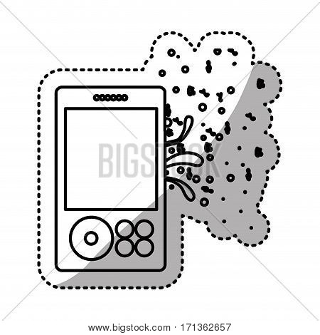 music player icon stock image, vector illustration