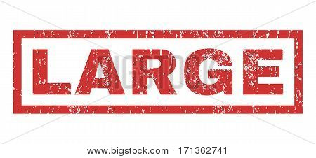 Large text rubber seal stamp watermark. Tag inside rectangular shape with grunge design and scratched texture. Horizontal vector red ink sticker on a white background.