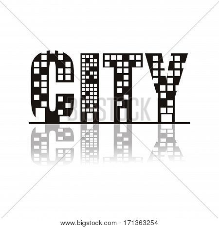 symbol city icon stock, vector illustration image