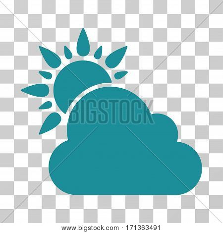 Weather icon. Vector illustration style is flat iconic symbol soft blue color transparent background. Designed for web and software interfaces.
