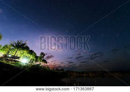 milky way on the sky / star at the sky