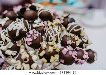 Chocolate Candy Balls Cookies