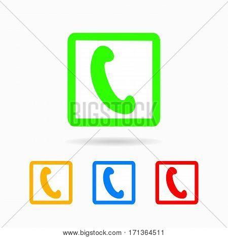 Phone Icon. Isolated On White Background