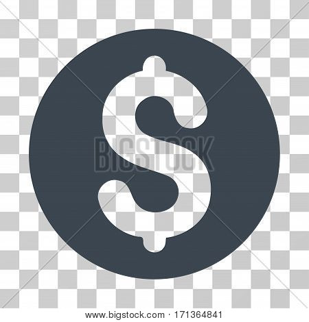 Coin icon. Vector illustration style is flat iconic symbol smooth blue color transparent background. Designed for web and software interfaces.