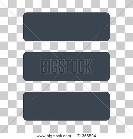 Database icon. Vector illustration style is flat iconic symbol smooth blue color transparent background. Designed for web and software interfaces.