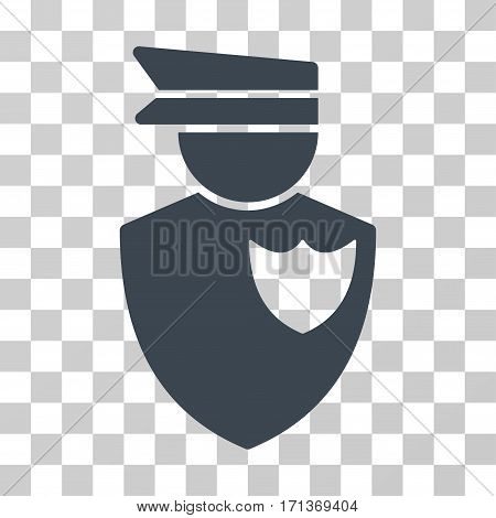 Policeman icon. Vector illustration style is flat iconic symbol smooth blue color transparent background. Designed for web and software interfaces.