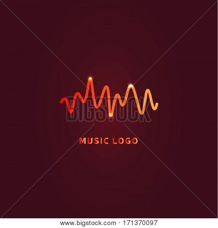 Colorful ui ux music equalizer sound waves. Audio electronic bar. Music waves logo. Dj vector illustration. Bright shiny light audio signal.