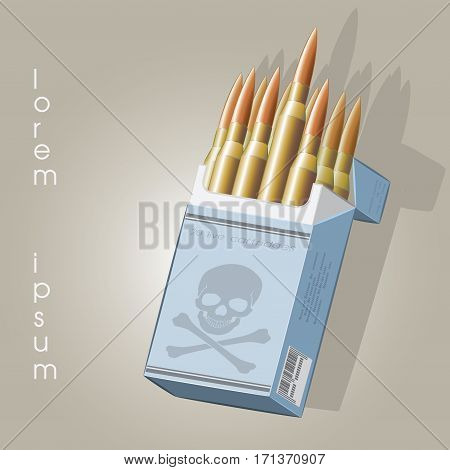vector illustration depicting a cigarette in a death