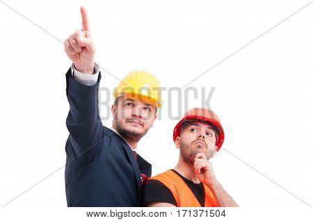 Attractive Builder With Businessman