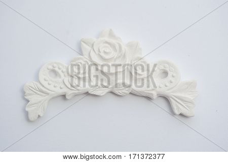 vintage plaster cartouche on the wall for background