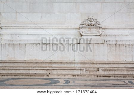detail of Altar of the Fatherland in rome