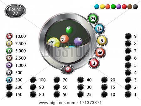 Lucky bingo balls