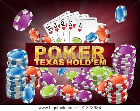 Poker texas holdem background