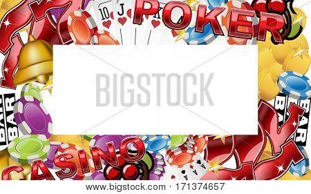 Poker and casino banner