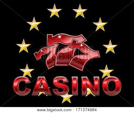 Luxury casino logo or icon